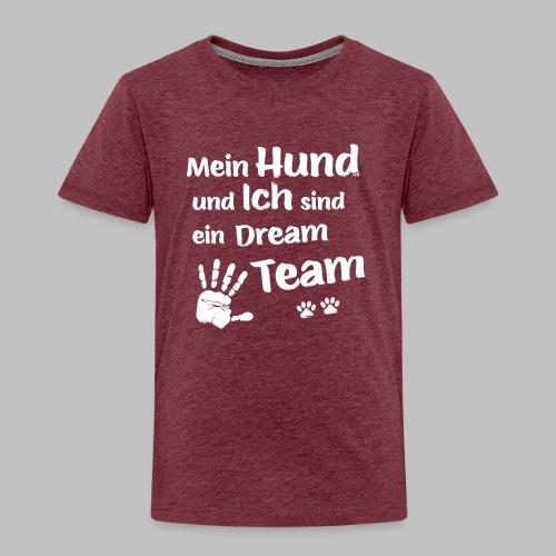 Mein Hund und ich sind ein Dream Team - Hundepfote - Kinder Premium T-Shirt