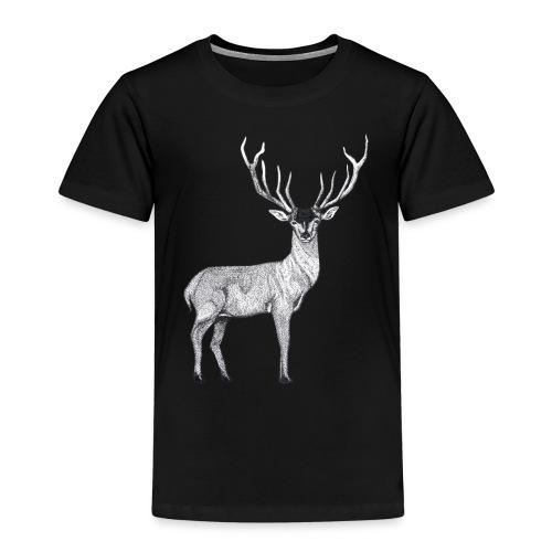Hirsch Wald Tier Weihnachten Jagd Wild Geschenk - Kinder Premium T-Shirt