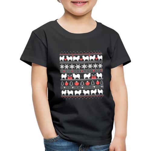 Suomenlapinkoira Joulu 01 - Lasten premium t-paita