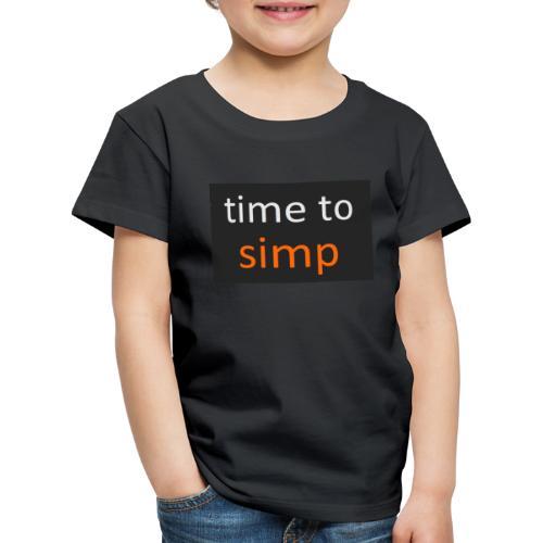 simping time - Kinderen Premium T-shirt