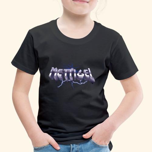 Mettigel T Shirt Design Heavy Metal Schriftzug - Kinder Premium T-Shirt