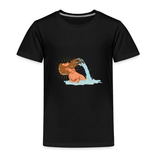 Bart Welle - lustiges Geschenk für Männer mit Bart - Kinder Premium T-Shirt