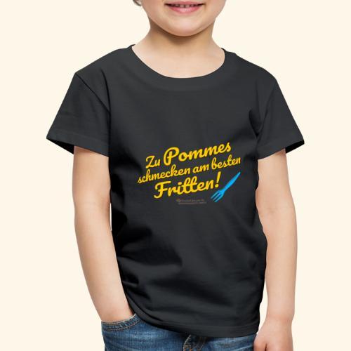 Pommes & Fritten   Geek T-Shirts - Kinder Premium T-Shirt