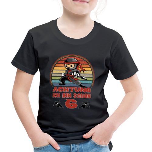 Ninja 6. Geburtstag - Achtung Ich bin Sechs - Kinder Premium T-Shirt