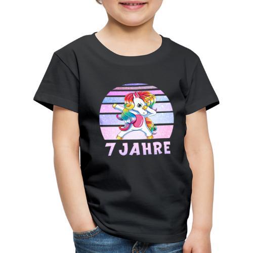 Geburtstagsshirt Dabbing Einhorn 7 Jahre Mädchen - Kinder Premium T-Shirt