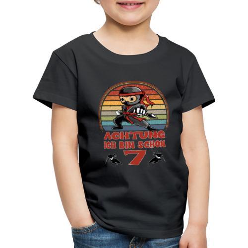 Geburtstagsshirt Ninja 7. Geburtstag - Kinder Premium T-Shirt