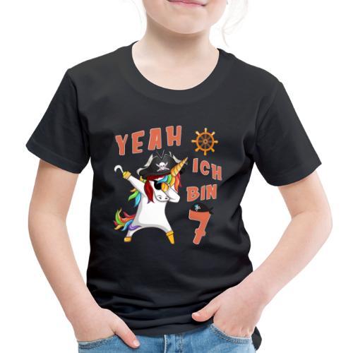 Piraten Einhorn Geburtstagsshirt 7 Jahre - Kinder Premium T-Shirt