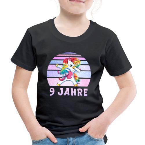 Dabbing Einhorn Geburtstagsshirt 9 Jahre Mädchen - Kinder Premium T-Shirt