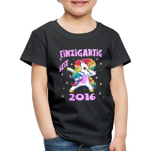 Geburtstag Einhorn - Einzigartig 4 Jahre Mädchen - Kinder Premium T-Shirt