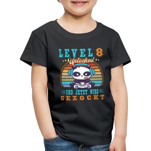 Gaming Geburtstag Level Up 8 Jahre Jungen - Kinder Premium T-Shirt