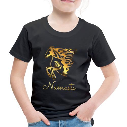 Namaste Horse On Fire - Kinder Premium T-Shirt