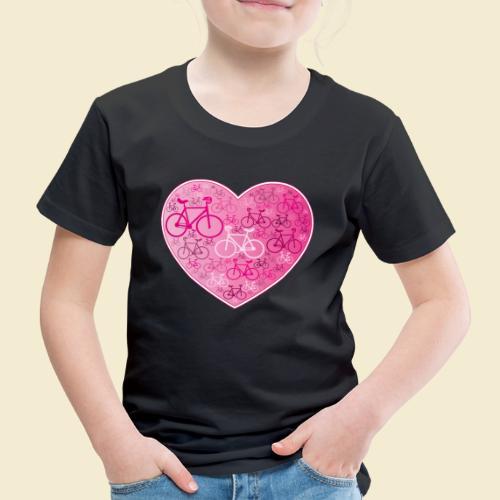 Kunstrad | Mein Herz rosa - Kinder Premium T-Shirt