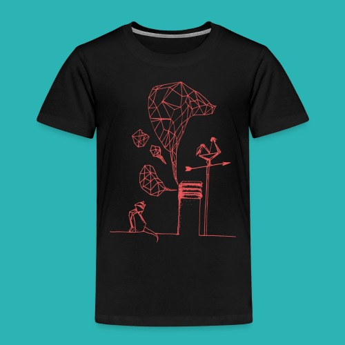 Carta_gatta_pink-png - Maglietta Premium per bambini