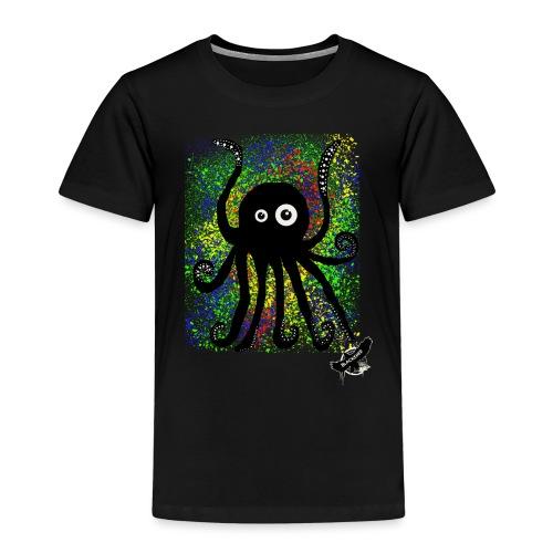 Sweet Octopus by BlackenedMoonArts, with logo - Børne premium T-shirt