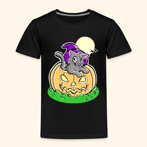kürbiskatze.PNG - Kinder Premium T-Shirt