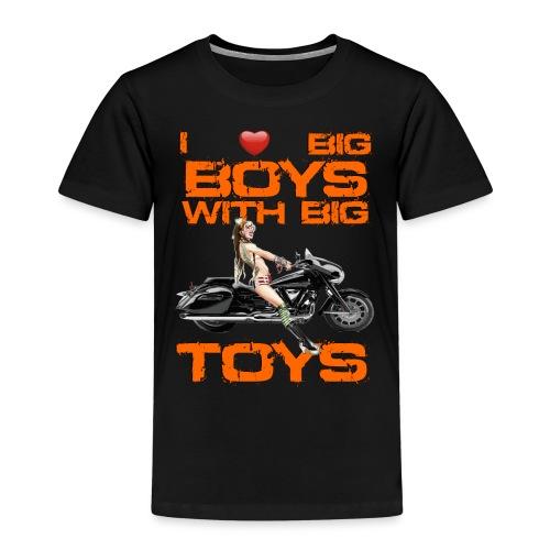 I love boys with big toys - Kinderen Premium T-shirt