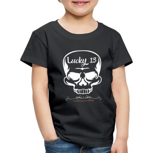 Lucky 13 , Skull Totenkopf 13 Bobber Biker Rocker - Kinder Premium T-Shirt