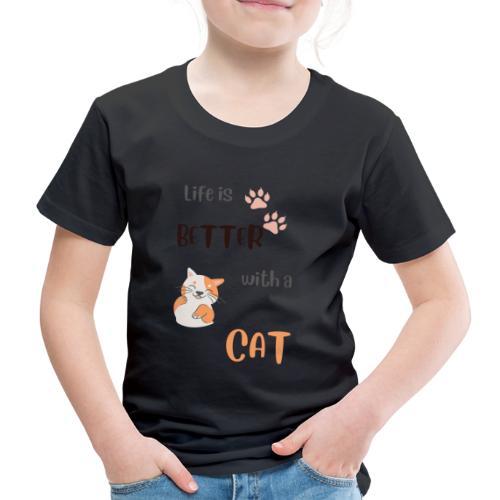 cat lovers - Børne premium T-shirt