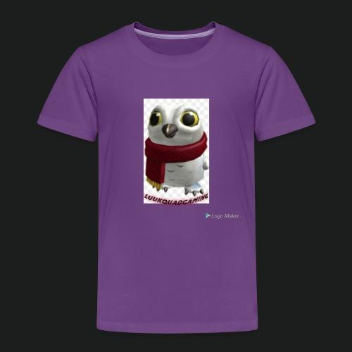 Merch white snow owl - Kinderen Premium T-shirt