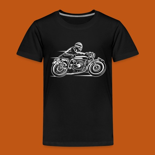 Cafe Racer Motorrad 03_weiß - Kinder Premium T-Shirt