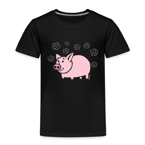 10-1B FUN PIGGY - HAUSKA POSSU Textiles and Gifts - Lasten premium t-paita