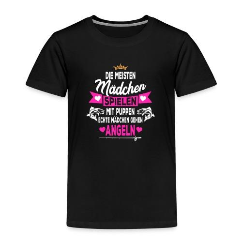 Echte Mädchen gehen Angeln Angler Papa - Kinder Premium T-Shirt