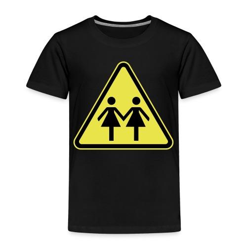 ACHTUNG LESBEN POWER! Motiv für lesbische Frauen - Kinder Premium T-Shirt
