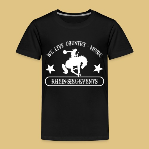 2We_live_Country_Music.png - Kinder Premium T-Shirt