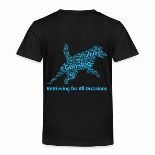 Retrieving for All Occasions wordcloud blått - Premium-T-shirt barn