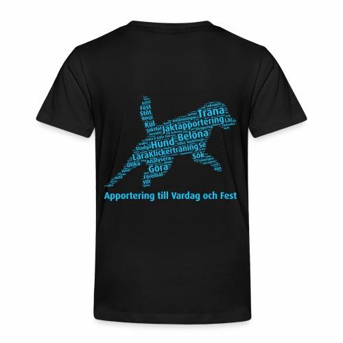 Apportering till vardag och fest wordcloud blått - Premium-T-shirt barn