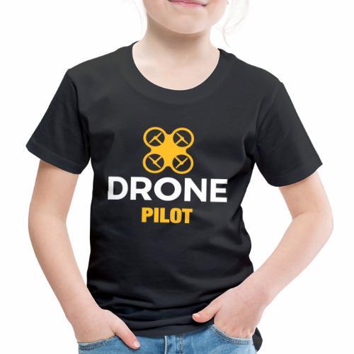 Logo Drone Pilot 5 klein - Kinderen Premium T-shirt