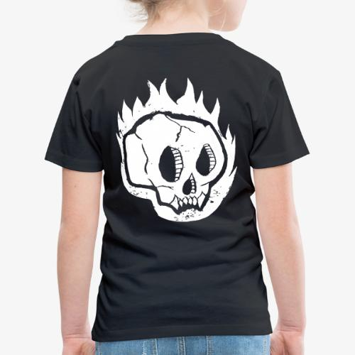 Burning skull - T-shirt Premium Enfant