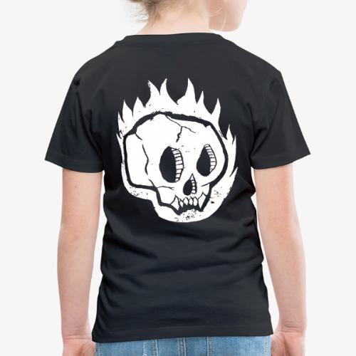 Burning skull - T-shirt Premium Enfant
