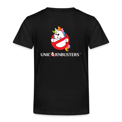 Unicorn Busters (Logo + Text) - Kinder Premium T-Shirt