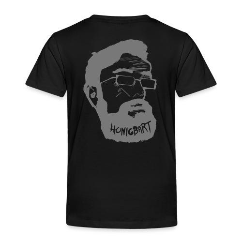 Honigbart Logo Big Grey Rücken - Kinder Premium T-Shirt
