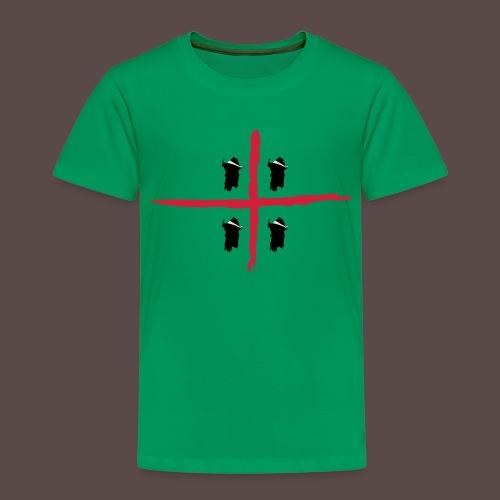 Sardegna Bendata, 4 Mori orizzontale - Maglietta Premium per bambini