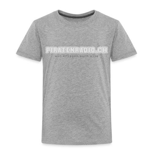 logo piratenradio claim 25cm neg - Kinder Premium T-Shirt
