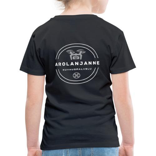 Janne Arola valkoinen - kuva takana - Lasten premium t-paita
