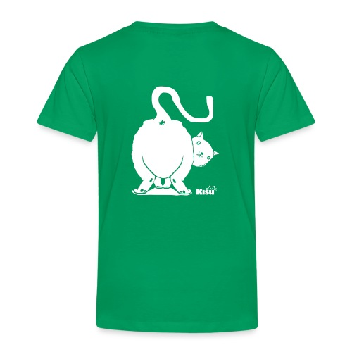 pyllykissa valkoinen - Lasten premium t-paita
