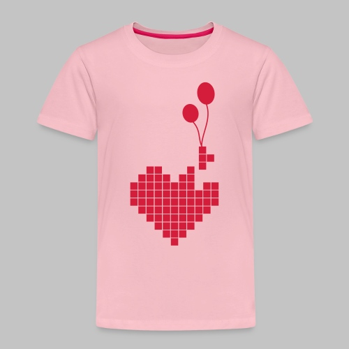 heart and balloons - Kids' Premium T-Shirt