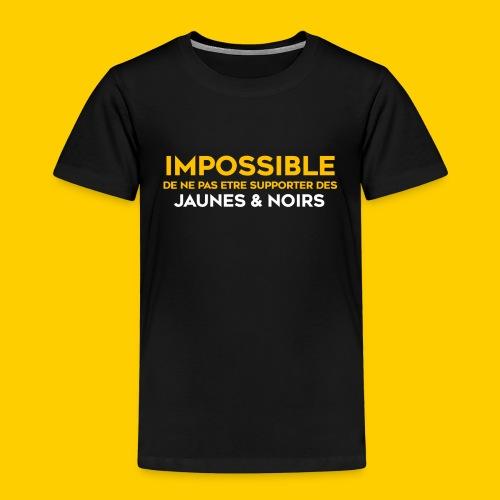 Impossible de ne pas.. Jaunes & Noirs - T-shirt Premium Enfant