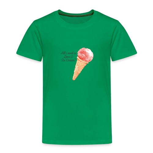 icecream03 png - Kinder Premium T-Shirt