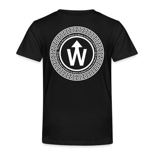 wit logo transparante achtergrond - Kinderen Premium T-shirt