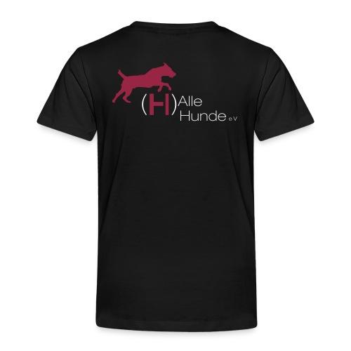 (H)alle Hunde auf weiß02 - Kinder Premium T-Shirt