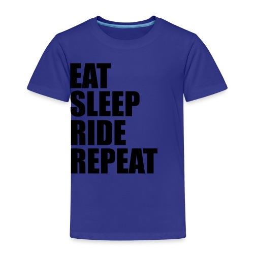 Eat sleep ride repeat - Maglietta Premium per bambini