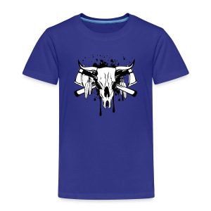 14255266 Vector illustration skull bull and crosse - Kids' Premium T-Shirt