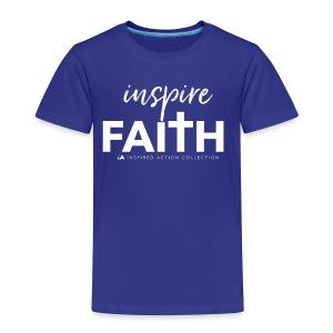 inspire faith white - Kinderen Premium T-shirt