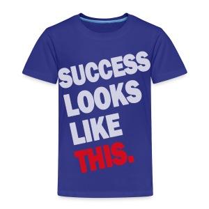 SUCCESS LOOKS LIKE THIS (White) - Kids' Premium T-Shirt