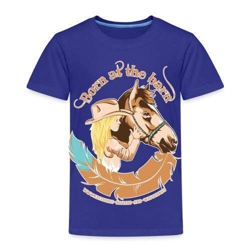 Little cow girl, Born at the barn - Kinderen Premium T-shirt