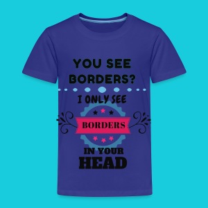 Zwapp Designs Borders - Kinder Premium T-Shirt